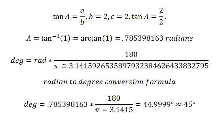 tangent calculation